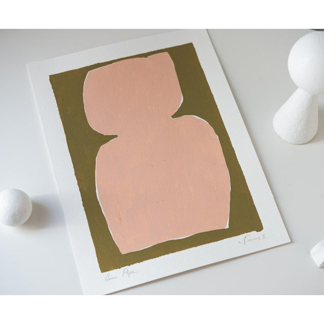 Contemporary Contemporary Minimalist Abstract Gouache Painting For Sale - Image 3 of 5