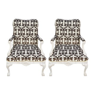 French Fauteuil Armchairs - A Pair For Sale