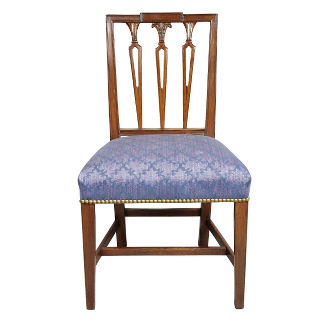Traditional Federal Mahogany Side Chairs - Set of 4 For Sale - Image 3 of 10