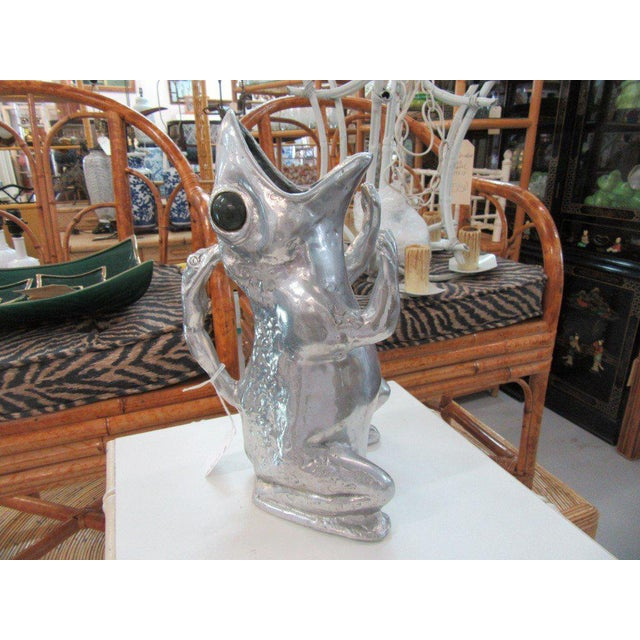 Aurther Court Aluminum Frog Pitcher - Image 5 of 6
