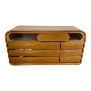 1970s Mario Sabot. Italy Wood and Stainless Steel Chest of Drawers For Sale