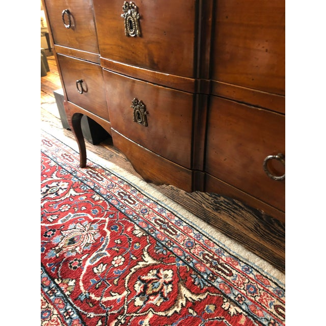 Wood 1980s Vintage French Heritage Mahogany and Marble Commode For Sale - Image 7 of 11
