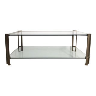 T24D Brass and Glass Coffee Table Designed by Peter Ghyczy, 1979