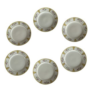 Late 19th Century Nippon Luncheon Plates - Set of 6 For Sale