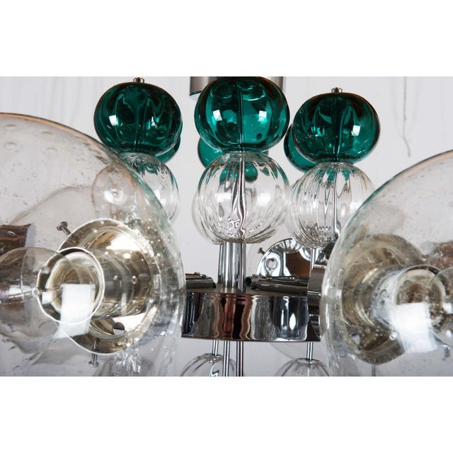 Large Chandelier with Hand Blown Ball Lights by Kamenicky Senov, 1970s For Sale - Image 9 of 11