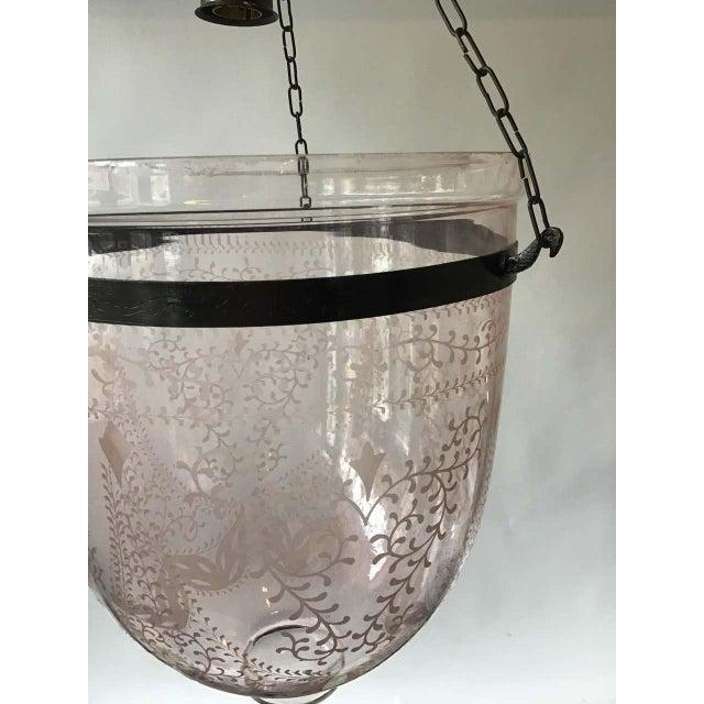 Glass Pink Bell Jar Lantern For Sale - Image 7 of 11