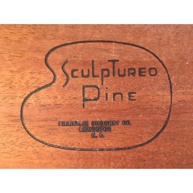 Franklin Shockey Mid-Century Sculptured Pine Dresser For Sale - Image 5 of 11