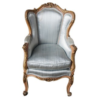 Late 19th Century Antique French Louis XVI Style Childs Wingback Arm Chair For Sale