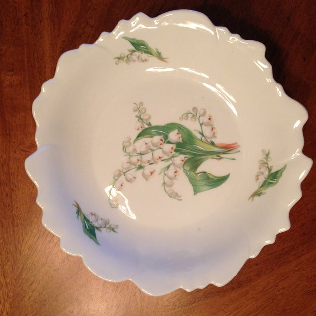 Limoges Lily of the Valley Pedestal Bowl - Image 4 of 8