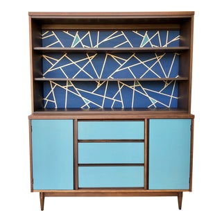 1960's Mid Century Modern China Cabinet For Sale