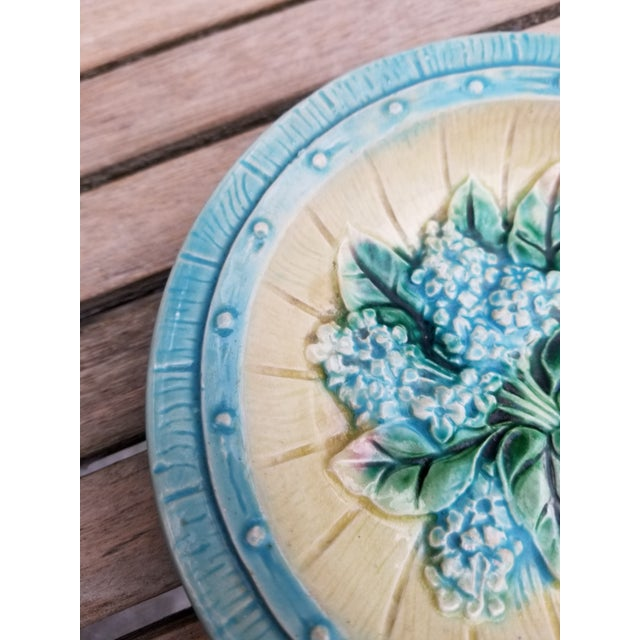 Majolica French Majolica Small Plates - a Pair For Sale - Image 4 of 10