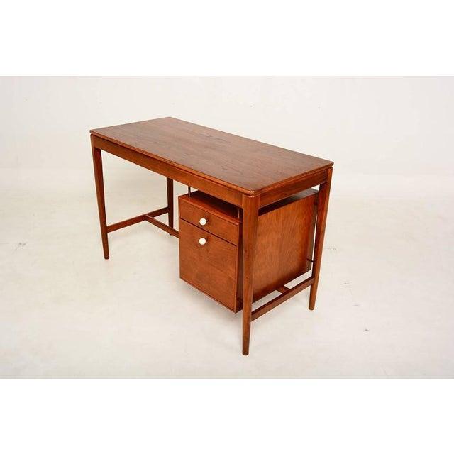 Mid Century Modern Walnut Desk by Drexel Kipp Stewart For Sale - Image 9 of 9