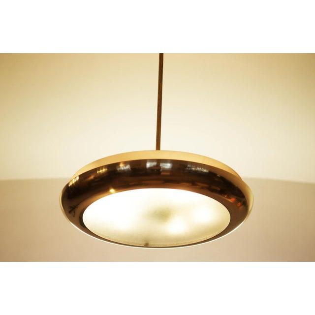 Large Bauhaus pendant lamp by Josef Hurka for Napako, 1938 For Sale - Image 10 of 10