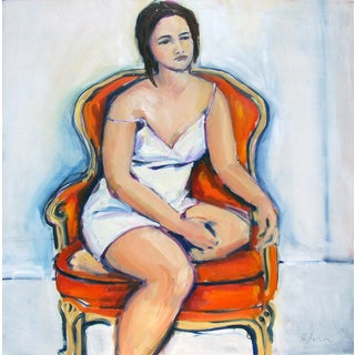 Woman in Orange Chair II by Heidi Lanino
