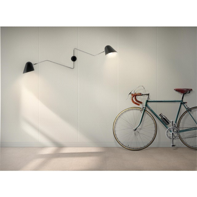 Not Yet Made - Made To Order Beghina Due Bracci Wall Light in Black and Brass For Sale - Image 5 of 6