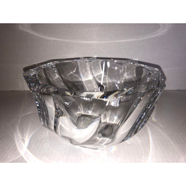 1980s Orrefors Residence Bowl by Olle Alberius For Sale - Image 11 of 11