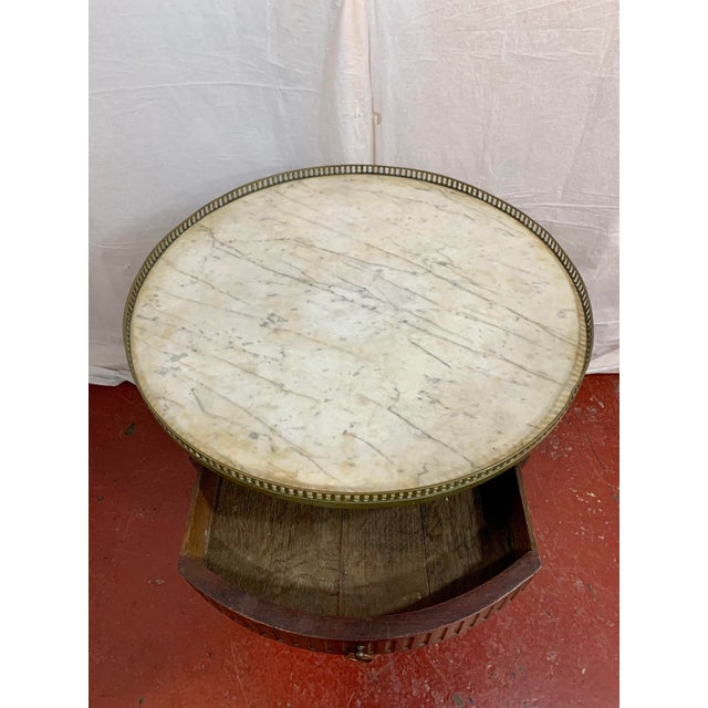 Metal Louis XVI Style Gueriodon Table For Sale - Image 7 of 9