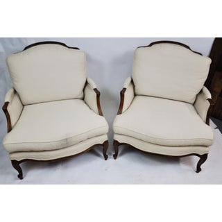Pair of Vintage Queen Anne Wingback Chairs Preview