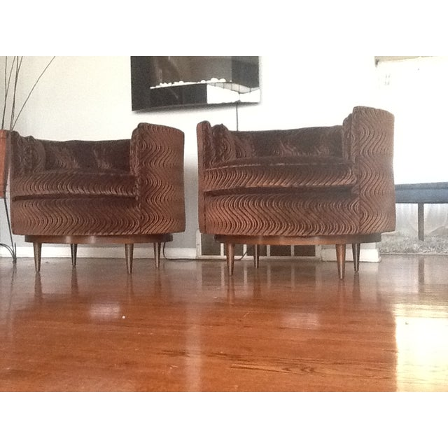 Mid-Century Tufted Club Chairs - A Pair - Image 7 of 7