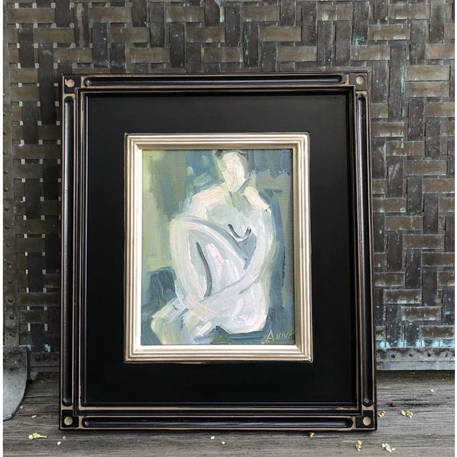 """Abstract """"Figure at Dusk I """" by Anne Darby Parker is part of a Dusk Series Oil on Canvas Frame not included unless you..."""