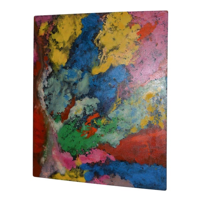 21st C. Modernist Abstract Oil Painting by Manor Shadian (B.1931 Iran / California) For Sale