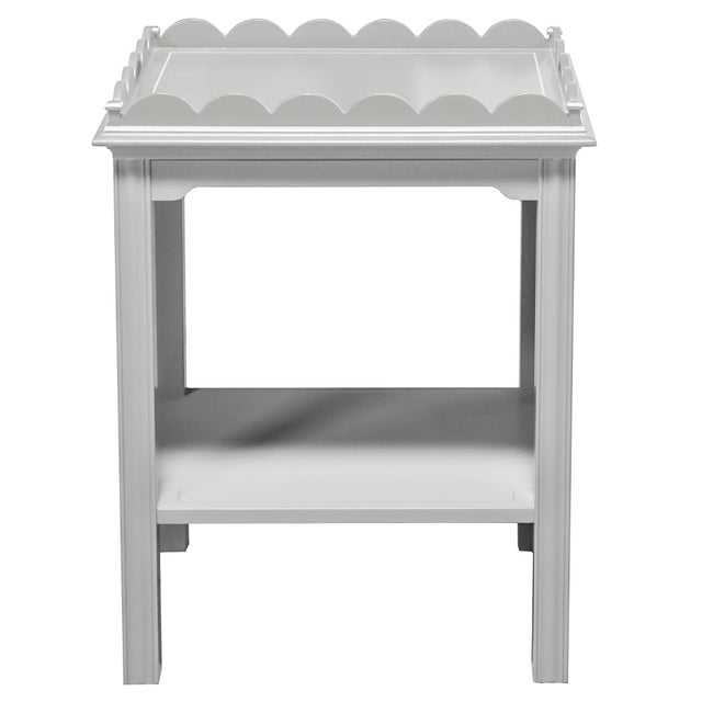 Traditional Kindel Mario Buatta Grey Lamp Table For Sale - Image 3 of 3
