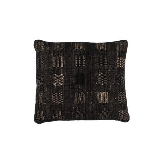 Hand Woven Indian Textile Pillow in Windows Design For Sale