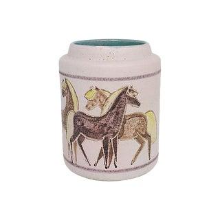 Mid-Century Italian Art Pottery Vase For Sale