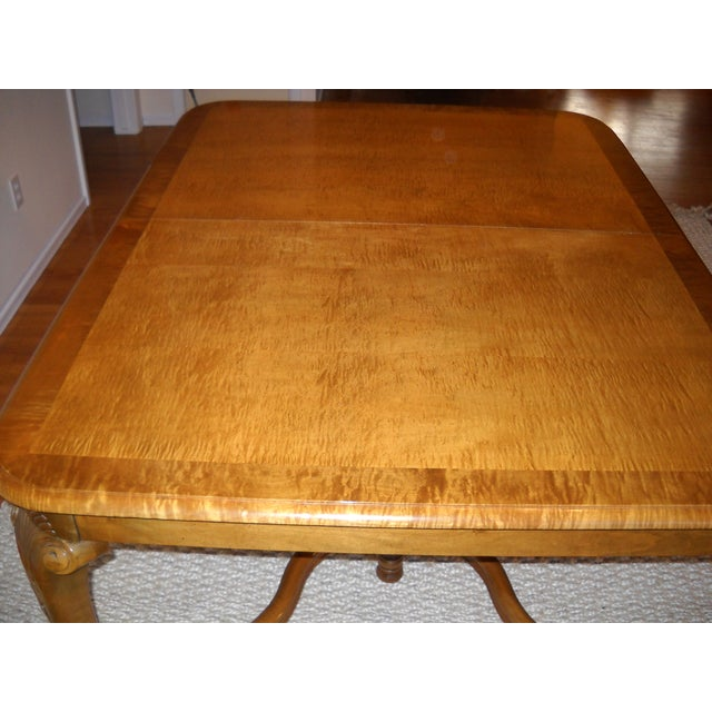 French Provincial Solid Oregon Maple Dining Set - Image 5 of 11