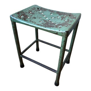 Italian Vintage Industrial Stool For Sale