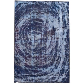 Early 20th Century Vintage Overdyed Rug For Sale
