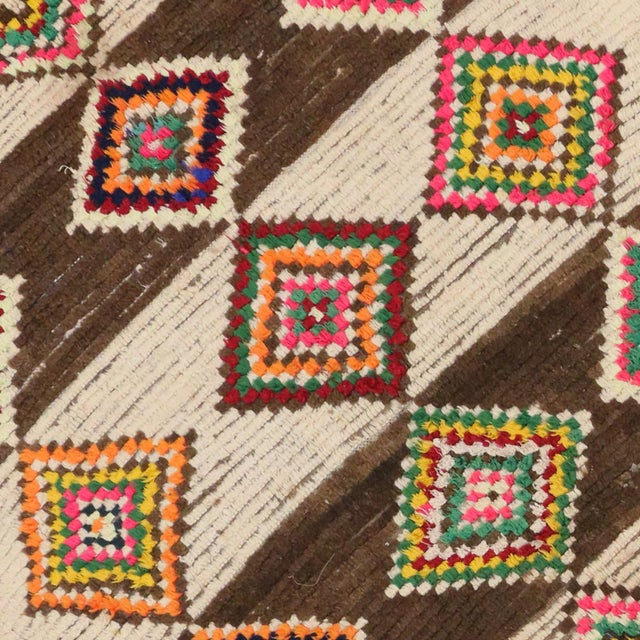 Berber Tribes of Morocco 20th Century Moroccan Berber Azilal Rug - 4'10 X 9'4 For Sale - Image 4 of 7