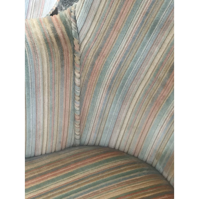 Mid-Century Modern Rainbow Velveteen Wingback Chairs - a Pair For Sale - Image 9 of 13