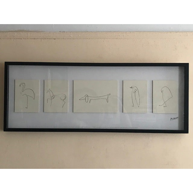 "Early 20th Century Antique ""Penguin"" Pablo Picasso Print For Sale - Image 13 of 13"