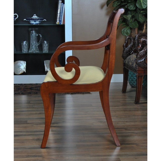 Empire Philadelphia Empire Arm Chair - a Pair For Sale - Image 3 of 13