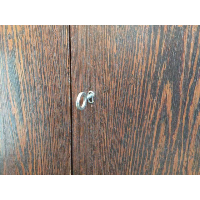 1980s JMF Style Two-Door Wenge Wood Cabinet For Sale - Image 5 of 7