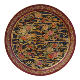 1980s Chinese Water Lily Display Plate For Sale