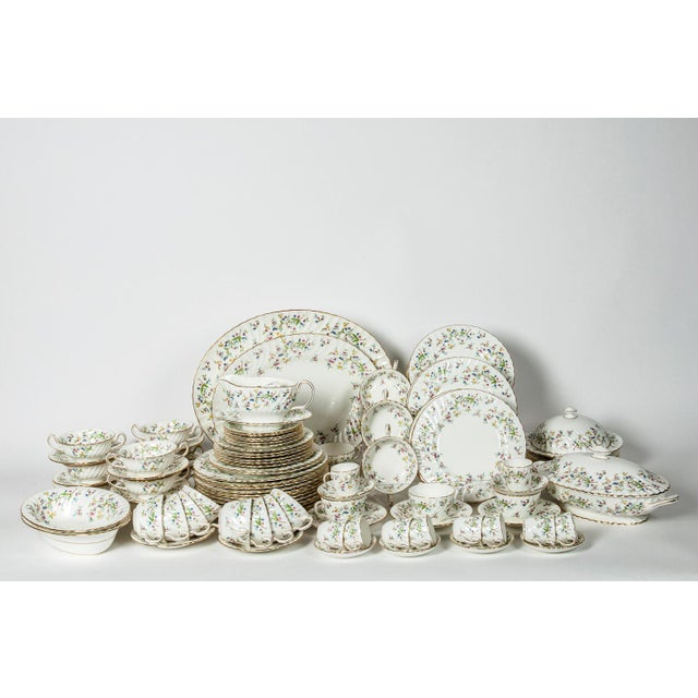 Early 20th Century Minton English Full Service Dinnerware for 12 People - 84 Pc. Set For Sale - Image 5 of 13