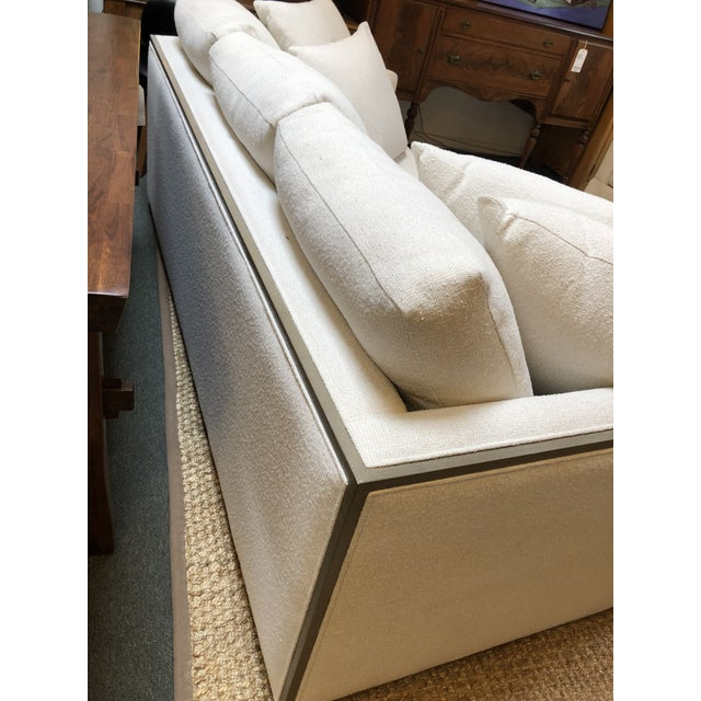 2010s Rene Cazares Furniture Woody Upholstered Sofa For Sale - Image 5 of 13