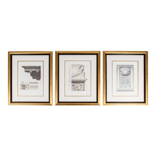 Mid-20th Century Lithographs With Giltwood Frame - Set of 3 For Sale