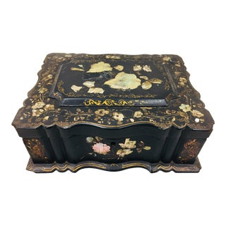 Antique Mother of Pearl Chinoiserie Box For Sale