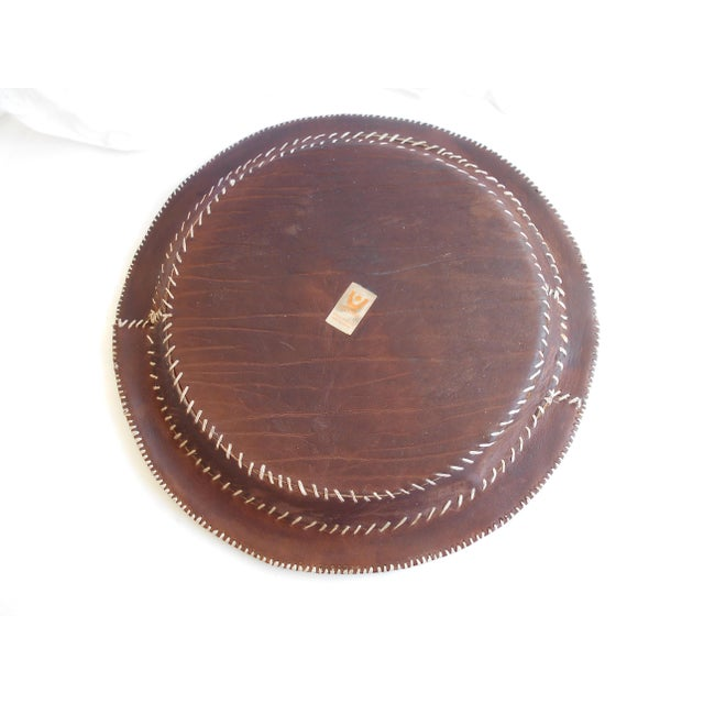 Hand Stitched Leather Tray - Image 5 of 6