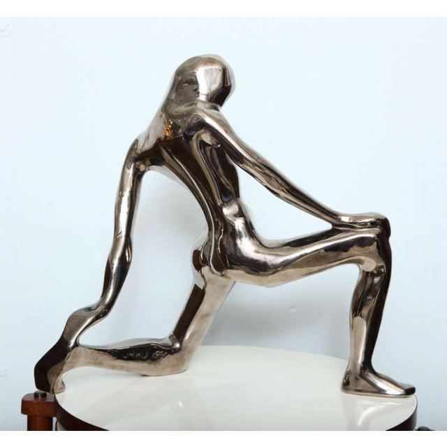 Ceramic Jaru Kneeling Female Figure For Sale - Image 7 of 9