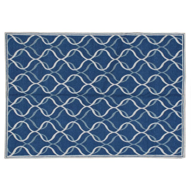 "Contemporary Stark Studio Rugs Contemporary Linen Soumak Rug - 6'1"" X 8'11"" For Sale - Image 3 of 3"