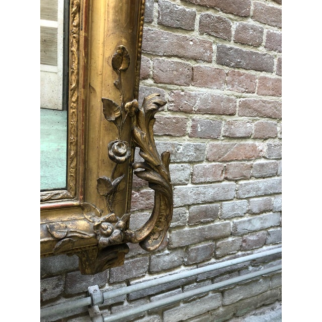 Gold 19th Century Mirror For Sale - Image 8 of 12