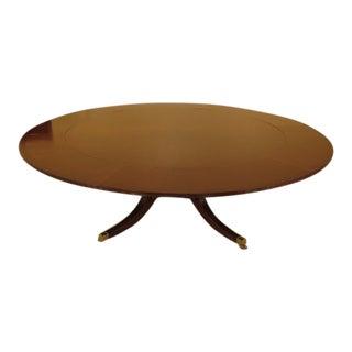 Wood & Hogan Large Round Mahogany Dining Room Table