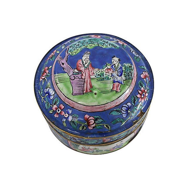19th C. Chinese Enameled Box For Sale In Los Angeles - Image 6 of 10
