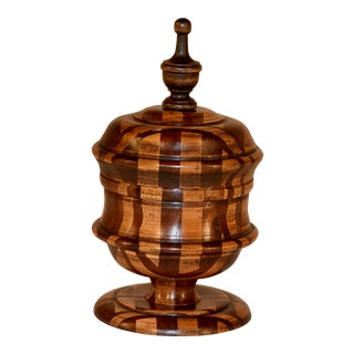 19th Century English Treen Lidded Jar For Sale