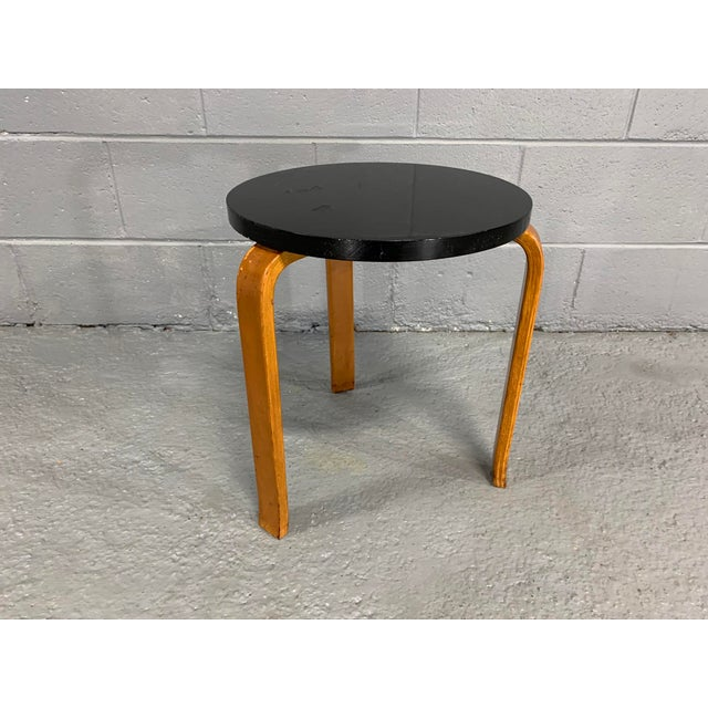 Mid-Century Modern Alvar Aalto Birch Stool for Artek For Sale - Image 3 of 11