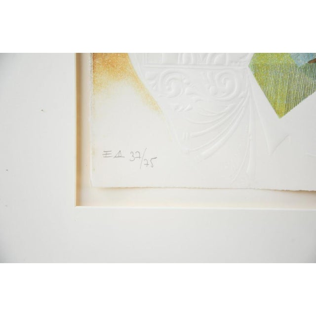 "Original Sunol Alvar Embossed Lithograph ""La Diligence and La Folie"" - Image 8 of 11"